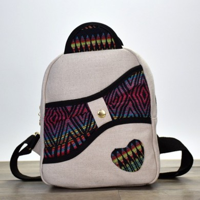 Original National Womene Cotton Retro Mini Backpack