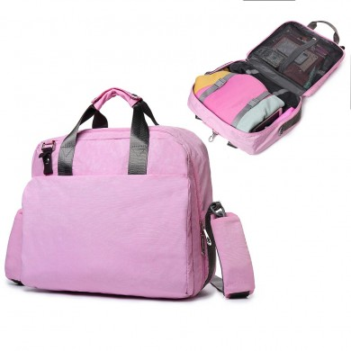 Women Nylon Solid Waterproof Multi-function Travel Backpack