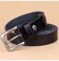 Fashion Women Retro Genuine Leather Belt Metal Pin Buckle Jeans Waistband Strip