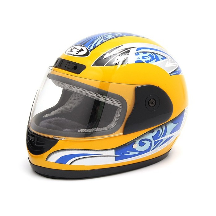 54 61cm Motorcycle Full Face Helmet With Scarf Shield Electric