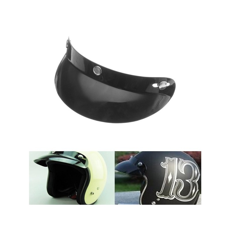 Universal Black 3 Snap Buttons Visor Shield Lens For Motorcycle Open Face Helmets 27cm/10.6in фото