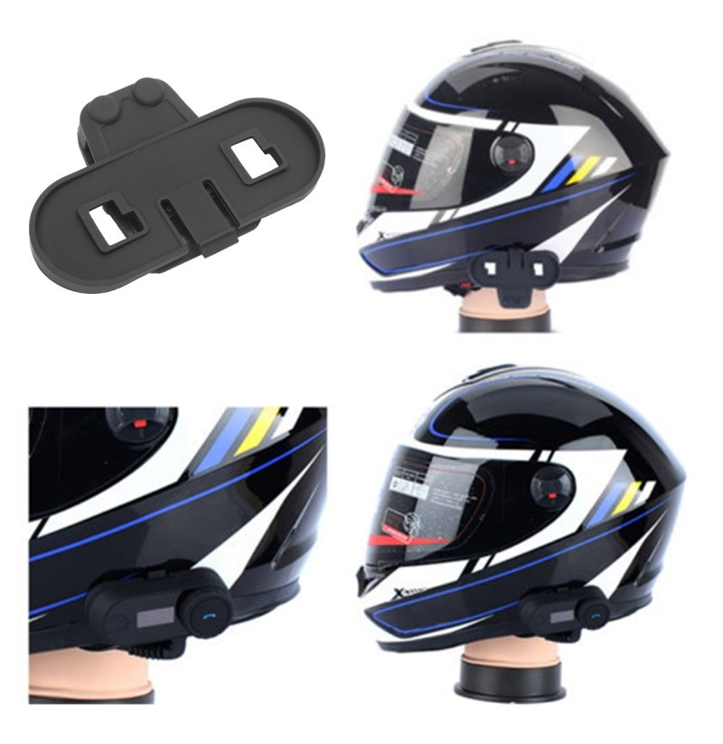 motorradhelm headset mic lautsprecher intercom clamp. Black Bedroom Furniture Sets. Home Design Ideas