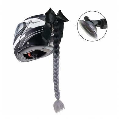 Motorcycle Helmet Braids Gradient Ramp Twist Braid Horn Decoration  Punk Style
