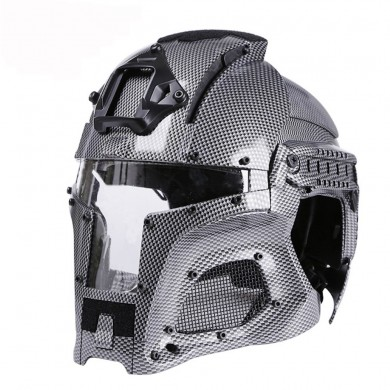WoSporT Camouflage Warrior Motorcycle Tactical Outdoor Retro Motocross Full Face Helmet