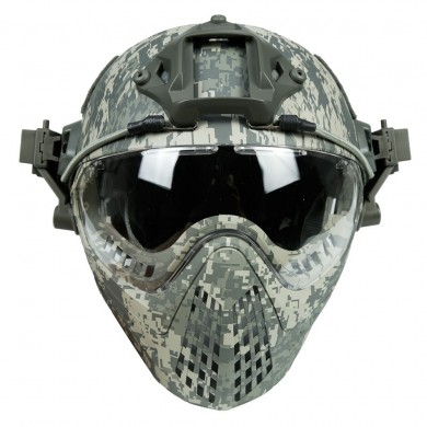 WoSporT CS Army Tactical Helmet With Maschera Motorcycle Hunting Riding Outdoor