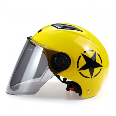 Anti-UV Motorcycle Motorbike Helmet Half Head Full Face Short Visor Tawny Goggle