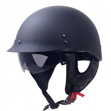 Zombies Racing ZR-205V Motorcycle Helmet DOT Certified Cruiser Half Face