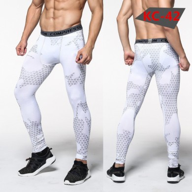 Men's Sports Pro Compression Camouflage Running Fitness Basketball Football Training Pants