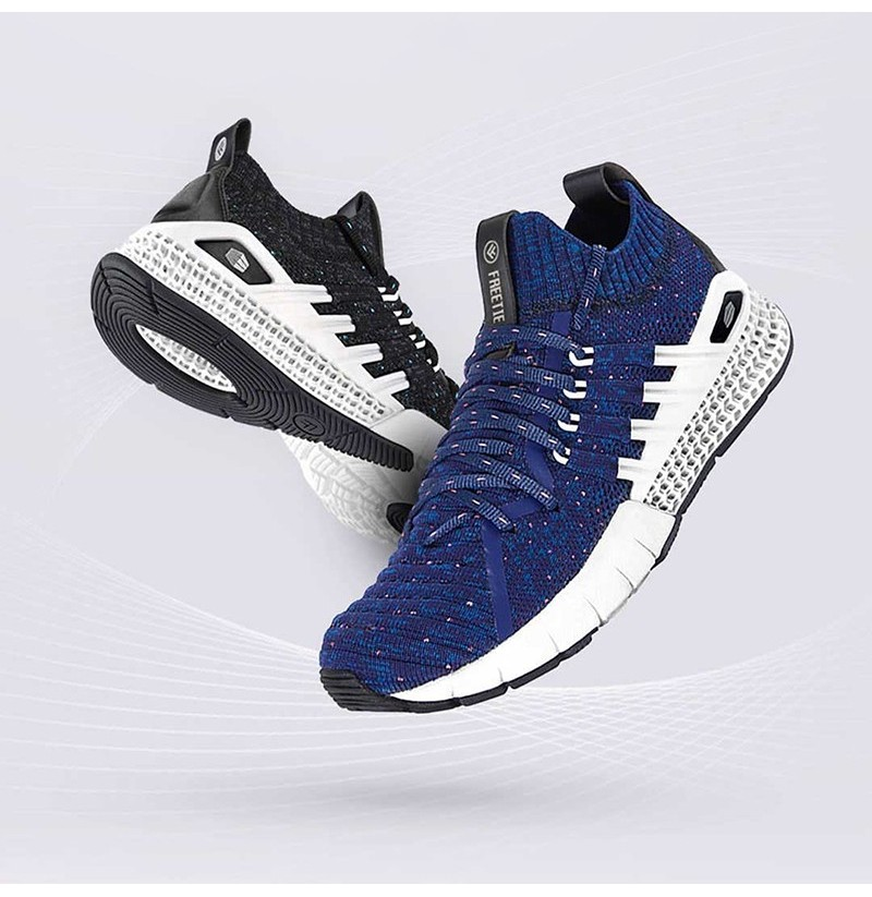 promo code 83d63 fa319 XIAOMI FREETIE 3D Printing Outdoor Sports Flyknit Sneakers Breathable Shock  Absorbing Men Running Shoes