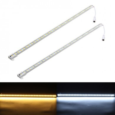 DC12V 50CM 14.4W SMD5630 U Shape Dual Row LED Rigid Strip Hard Bar Light with DC Female Connector