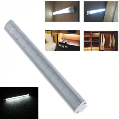 30CM 1.2W PIR Motion Sensor LED Cabinet Closet Rigid Light for Kitchen Wardrobe Cupboard DC6V