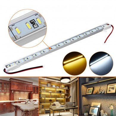 30 CM SMD4014 7W Non-waterproof LED Rigid Strip Bar Light para el gabinete Cocina estante DC12V