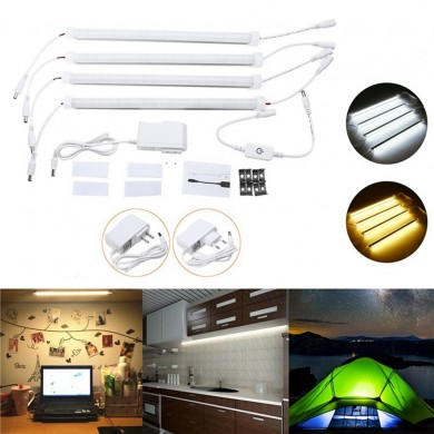 4PCS 30CM 30W SMD5630 Milky White Cover Double Row LED Rigid Strip Light Cabinet Lámpara AC110-240V