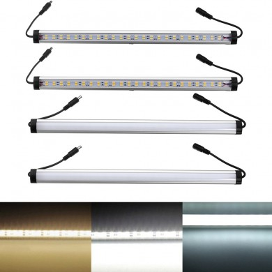35CM 9.6W SMD5630 Milky White Transparent Double Row LED Rigid Strip Light with DC Connector DC12V