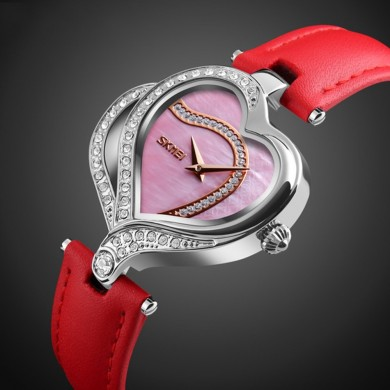 SKMEI 9161 Sweet Love Fashion Style Crystal Women Watches