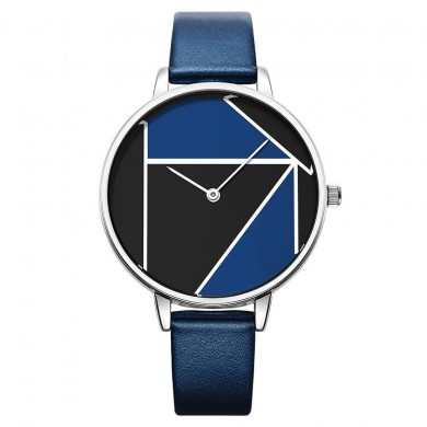 SK K0072 Simple Casual Leather Strap Quartz Watches