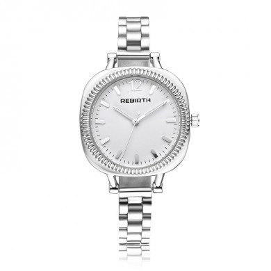 REBIRTH Casual Style Rectangle Dial Design Women Wrist Watch