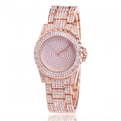DEFFRUN Luxury Ladies Bling Relojes Moda Diamante Rhinesto