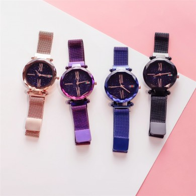 Deffrun Magnetic Attraction Clasp Mujer reloj de pulsera