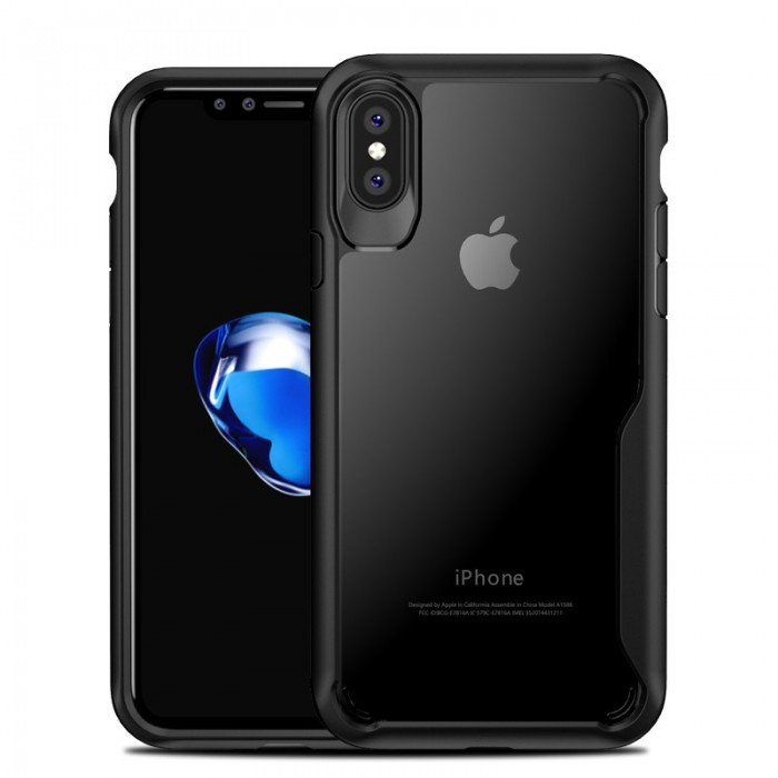 Anti huellas dactilares transparentes claro suave TPU PC Caso para iPhone X