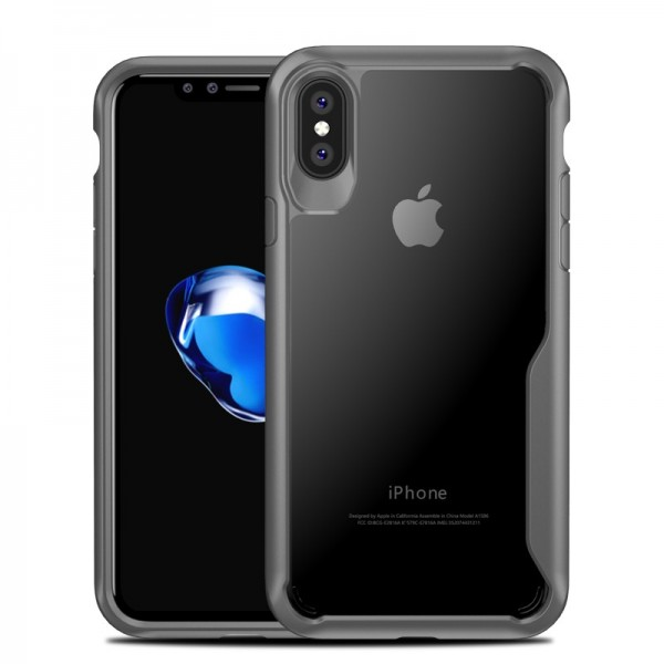 Anti Fingerprint Transparent Clear Soft TPU PC Gehäuse für iPhone X