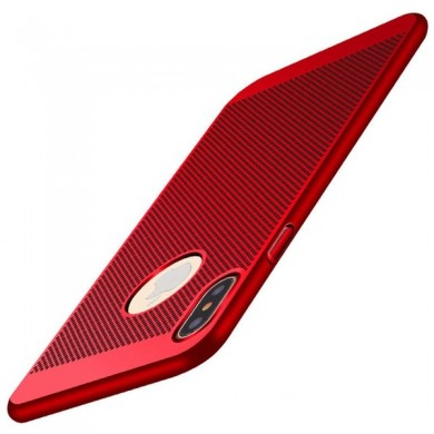 Mesh Heat Dissipation Anti Fingerprint Hard PC Case For iPhone X