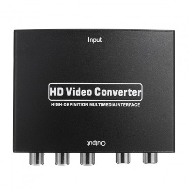 SD-020 1080P HD to RGB Component 5RCA YPbPr Video R/L Audio Converter Adapter TV PC