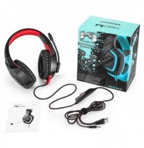 Universal 3.5 mm estéreo USB LED Gaming Headset auriculares con micrófono para PS4 Xbox One Tablet PC