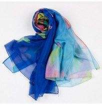 Women Summer Chiffon Beach Printed Long Scarf