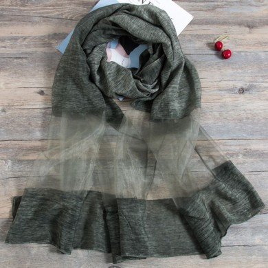 Women Casual Summer Linen Scarf Ultra Soft Shawl