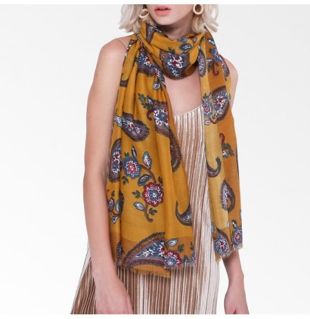 Damen Blumendruckschal Ethnic Elegant Long Soft Schal