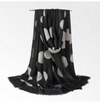Women Polka Dot Printing Scarf Cotton Linen Soft Long Shawl