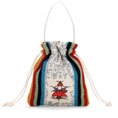 Women Ethnic Characteristics Lovely Canvas Mobile Change Bag