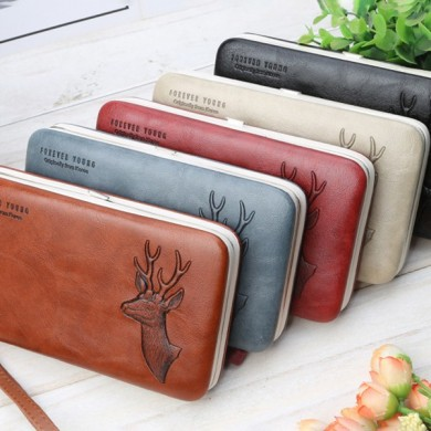 Baellerry Mulheres Faux Leather Multifunctional Card Holder