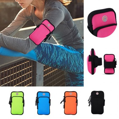 Women And Men Outdoor Sports Arm Bag With Headphone Plug