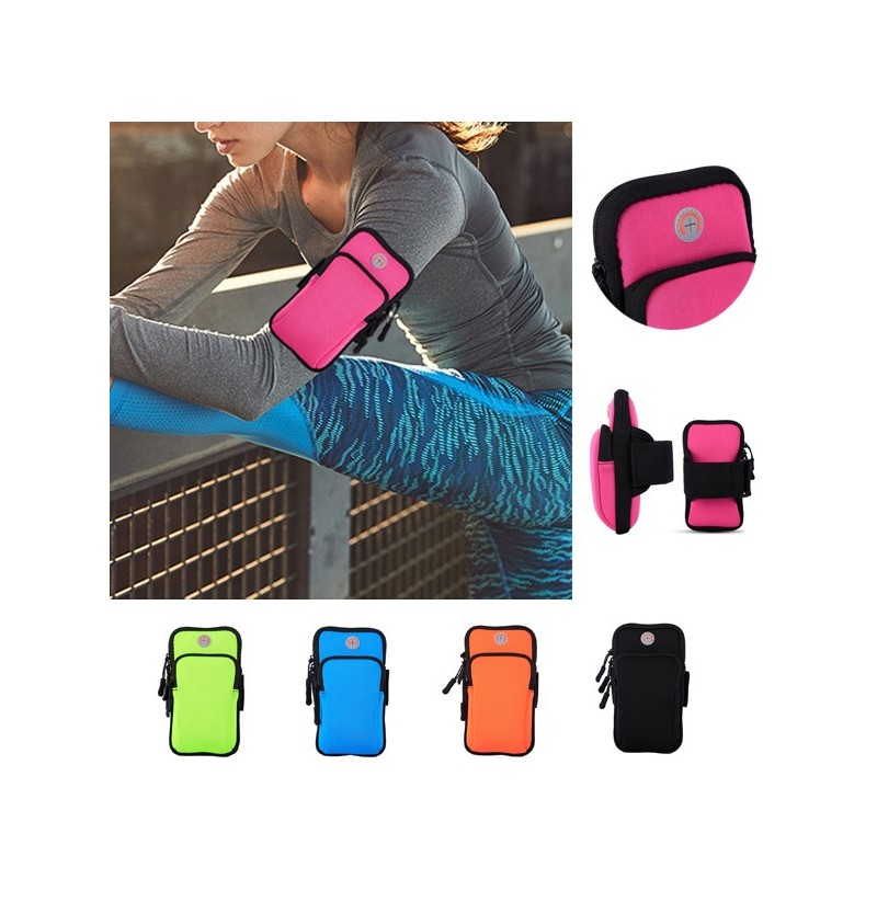 Women And Men Outdoor Sports Arm Bag With Headphone Plug (Color: Blue) фото