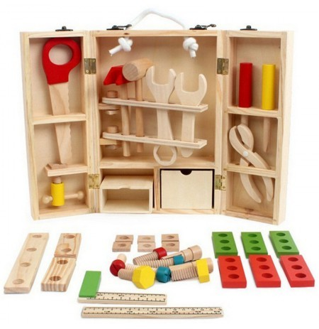 Kids Baby Educational Play Toys Sets Wooden Building Block Toddler