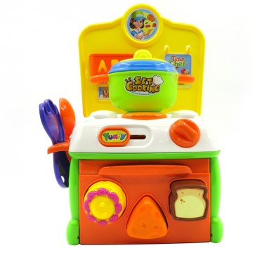 Flytec Juego de imaginación Toy Baby Super Cute Simulation Kitchen Breakfast Cooking Toys
