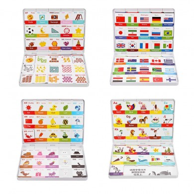 XIAOMI Magnetic Board Game Toy Alphabet Color Figures National Flag Learning Developmental Toy Fridge Magnet