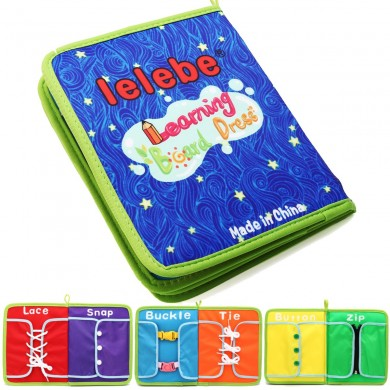 Montessori Learn Vestido Boards Quick Book Aprendizaje temprano Basic Life Skills Toys