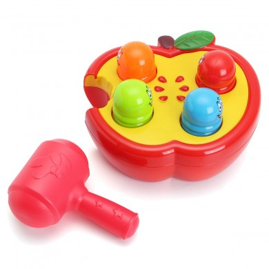 Giocattoli elettronici a percussione Fruitworm Whac-A-Mole Gioco Sound Preschool Toddler Board Game Toy