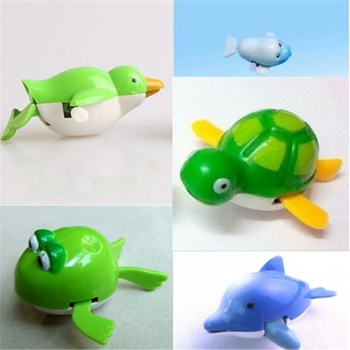 Lindo Wind-Up Water Piscina Baño Diver Plastic Toy Swimming Baby Kids Juguetes para el baño