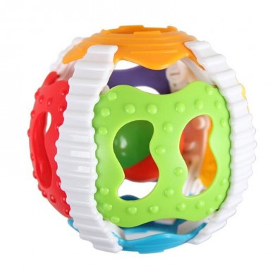 Baby Ring Baby Early Education Bell Baby Soft Colla a sei colori a mano con la mano