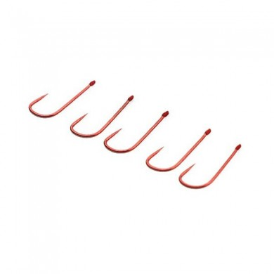 ZANLURE 10PCS Barbless Red Fishing Hooks Single Fishing Hooks