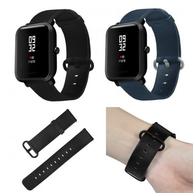 Bakeey 20mm Vera Pelle Cinturino Banda per Xiaomi Amazfit Bip Youth Smart Watch