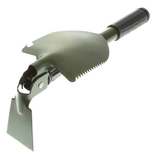 IPRee Outdoor Tool 3 in 1 Mini Folding Pointed Spade With Saw Compass