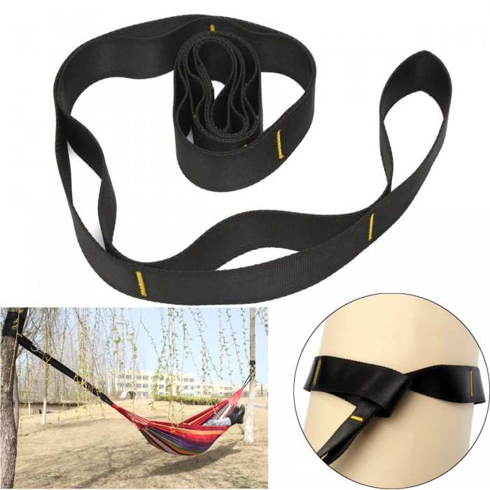 1.5M Nylon Hanging Strap Belt 350bls Camping Hammock Extension Band Tree Swing