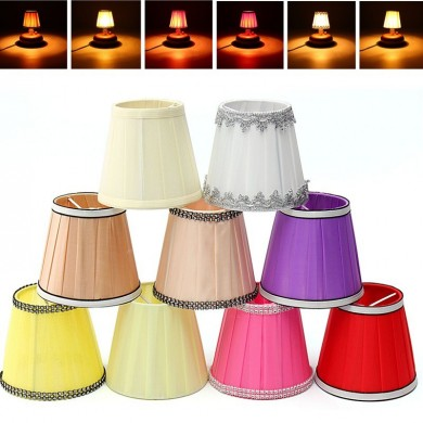 Fabric Chandelier Lampshade Holder Clip on Sconce Bedroom Beside Bed Lamp Hanging Light