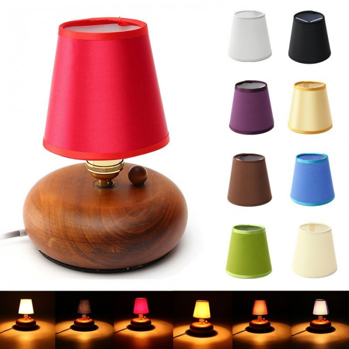 Fabric Chandelier Hanging Lampshade Holder Clip on Sconce Bedroom Beside Bed Lamp Light