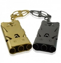 IPRee Outdoor Three Tube 150db Whistle Camping Survival Stainless Steel Apito High Frequency Sounder